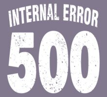 Team shirt - 500 Internal Error, white letters Kids Clothes