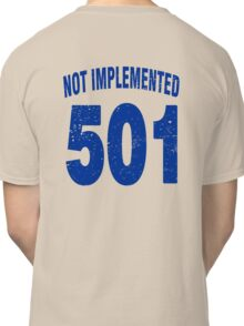 Team shirt - 501 Not Implemented, blue letters Classic T-Shirt