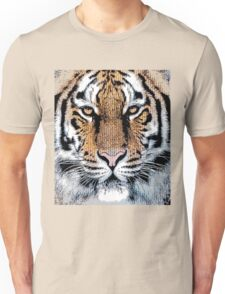 Tiger Portrait in Graphic Press Style Unisex T-Shirt