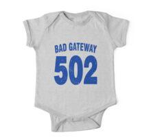 Team shirt - 502 Bad Gateway, blue letters One Piece - Short Sleeve