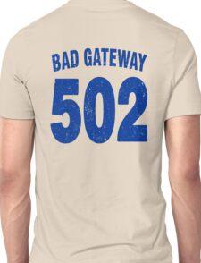 Team shirt - 502 Bad Gateway, blue letters Unisex T-Shirt