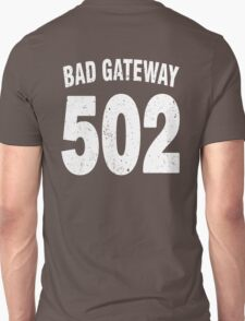Team shirt - 502 Bad Gateway, white letters T-Shirt