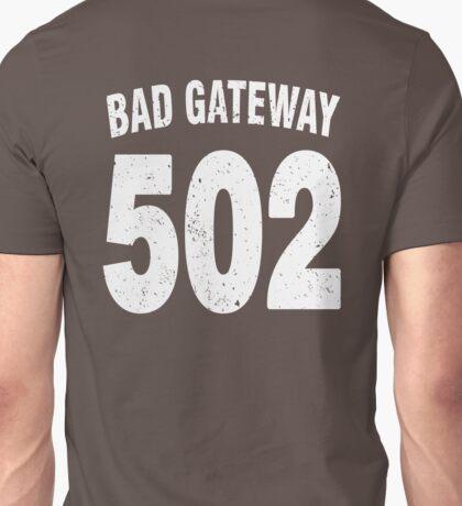 Team shirt - 502 Bad Gateway, white letters Unisex T-Shirt
