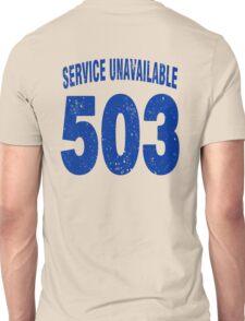 Team shirt - 503 Service Unavailable, blue letters Unisex T-Shirt