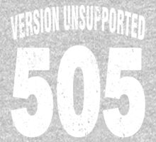 Team shirt - 505  Unsupported Version, white letters Baby Tee