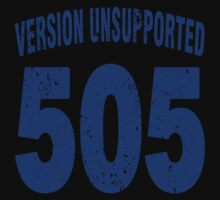 Team shirt - 505  Unsupported Version, blue letters Kids Clothes