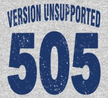 Team shirt - 505  Unsupported Version, blue letters Baby Tee