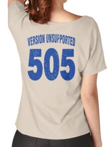 Team shirt - 505  Unsupported Version, blue letters Women's Relaxed Fit T-Shirt