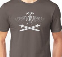 Two-Headed Skeleton Eagle Crest Unisex T-Shirt