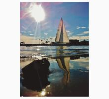 White Sailboat in Newport Harbor Kids Clothes