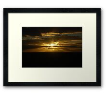 Sunset- Mungo National Park, NSW Framed Print
