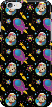 Rocket Monkey - iPhone Case by Beesty