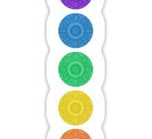 seven chakra circles Sticker
