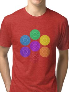 seven chakras circle Tri-blend T-Shirt