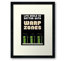 warp zone  Framed Print