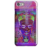 Nefertiti_Ankh in Violet iPhone Case/Skin