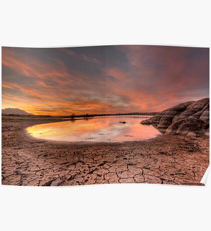 Evaporating Sunset Poster