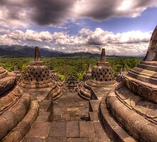 The Top Of Borobudur Temple, Indonesia by Jimmy McIntyre