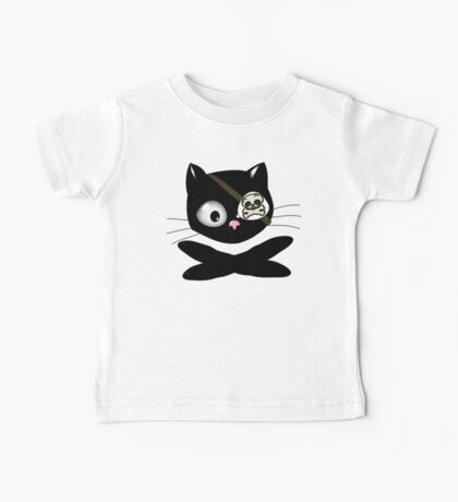 Pirate Kitty with Eye Patch Baby Tee