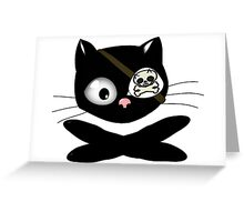 Pirate Kitty with Eye Patch Greeting Card
