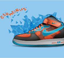 Nike Shoes - Geometrics by Nick Symeou