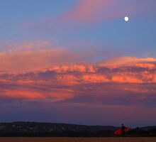 glow under a moon by geophotographic