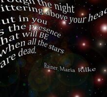 Rilke poem Sticker
