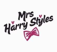 Mrs Harry Styles - in black & pink by Adriana Owens