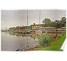 Strahan Esplanade from Risby Cove Poster