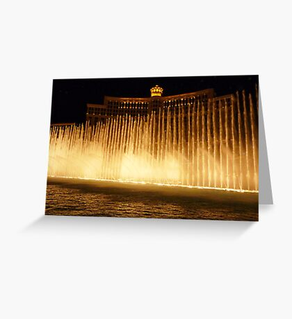 Hey Big Spender - Bellagio fountain - Vegas Greeting Card