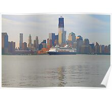 Cruise Ship Veendam on the Hudson Rv. Poster