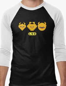LSD: Dream Emulator - Mascot Heads Men's Baseball ¾ T-Shirt