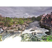 Linton falls down stream. Photographic Print