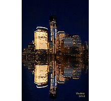 Reflections of The Freedom Tower and down town Manhattan Photographic Print