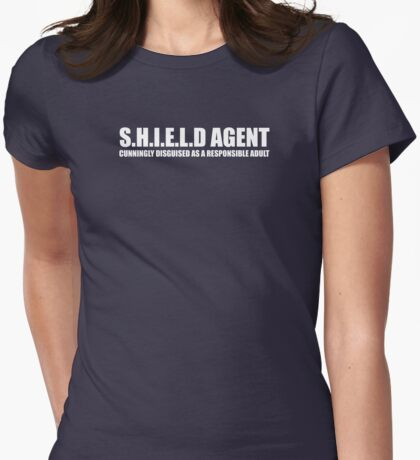 S.H.I.E.L.D AGENT (2) Womens Fitted T-Shirt