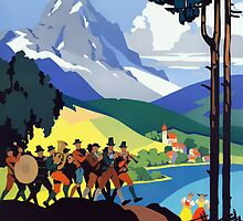 Austria Vintage Travel Advertisement by ukedward