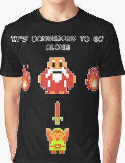 It's Dangerous To Go Alone - Legend of Zelda Graphic T-Shirt
