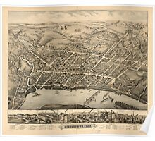 Panoramic Maps Middletown Conn 1877 Poster