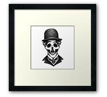 Stack's Skull Sunday No. 8 (Charlie Chaplin) Framed Print