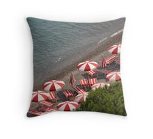 Italian Beach Scene Throw Pillow