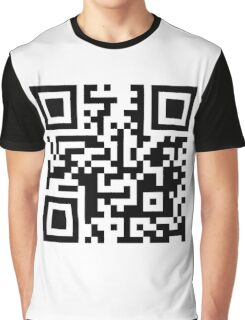 QR Code - Black and White Graphic T-Shirt