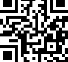 QR Code - Black and White by Hayden Di Bona