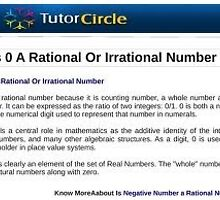 Is 0 rational or irrational   by prakeshlala