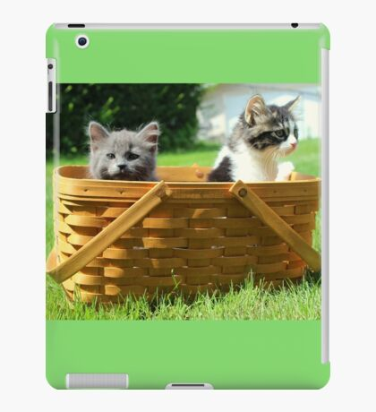 Mischievous Kittens in a Basket iPad Case/Skin