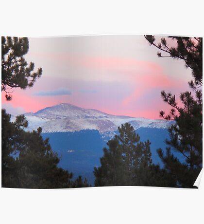 Pikes Peak Pink Poster