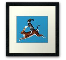 Cat Hare Framed Print