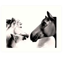 Dark Horses Art Print