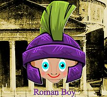 Roman Boy in Rome iPhone case design by Dennis Melling