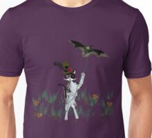 Steampunk Kitty Flying A Bat Unisex T-Shirt
