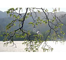 Around the little church of Bled - Slovenia Photographic Print